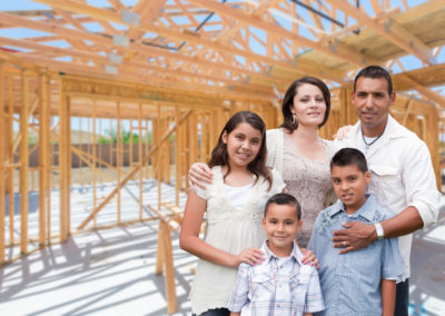 home construction, family of five